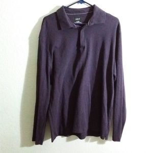 Alfani XL Men's Knit Polo Long sleeve 100% Cotton